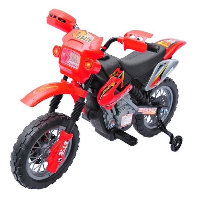 Goleto Dětská elektrická motorka Enduro, červená